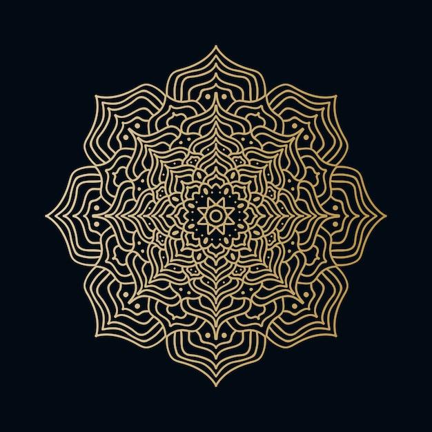 Mandala background di lusso creativo con lo stile orientale islamico arabo arabo dorato creativo del modello di arabesque Vettore Premium