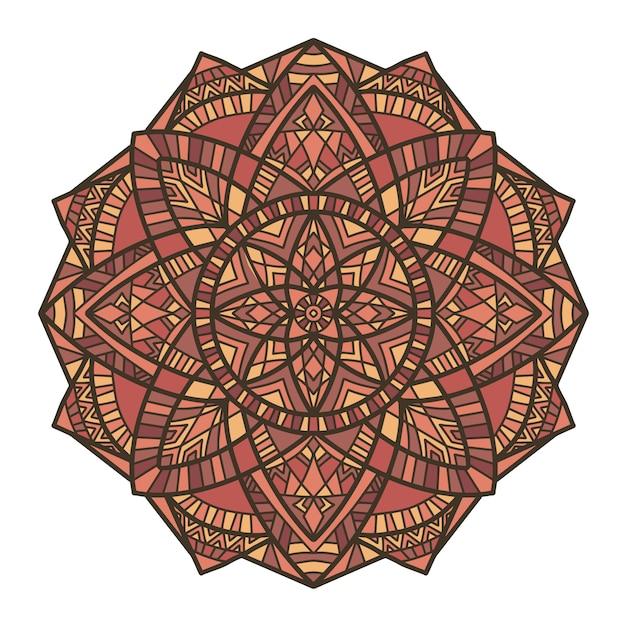 Mandala design per la stampa. ornamento tribale. Vettore Premium