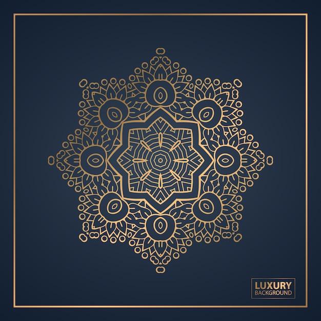 Mandala di lusso per la copertina del libro, invito a nozze. Vettore Premium