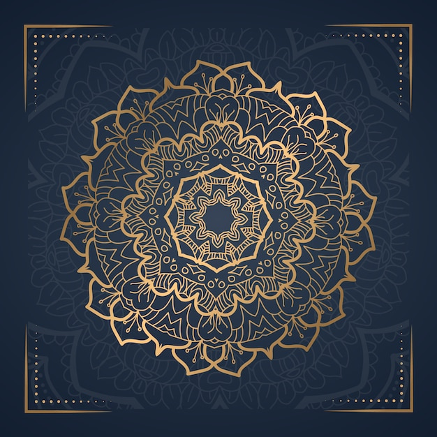 Mandala di lusso per la copertina del libro Vettore Premium