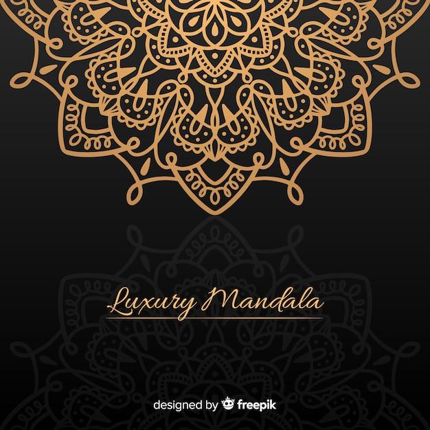 Mandala di lusso Vettore gratuito