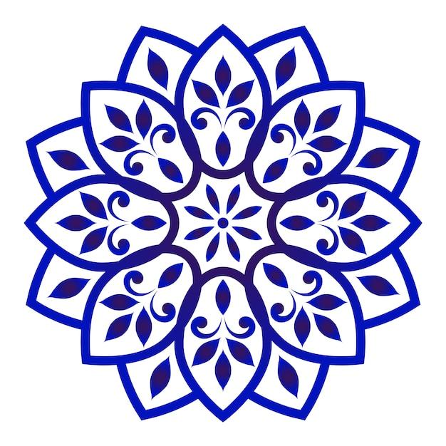 Mandala floreale decorativo Vettore Premium