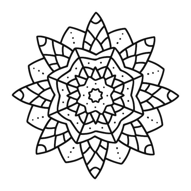 Mandala indiana Vettore gratuito