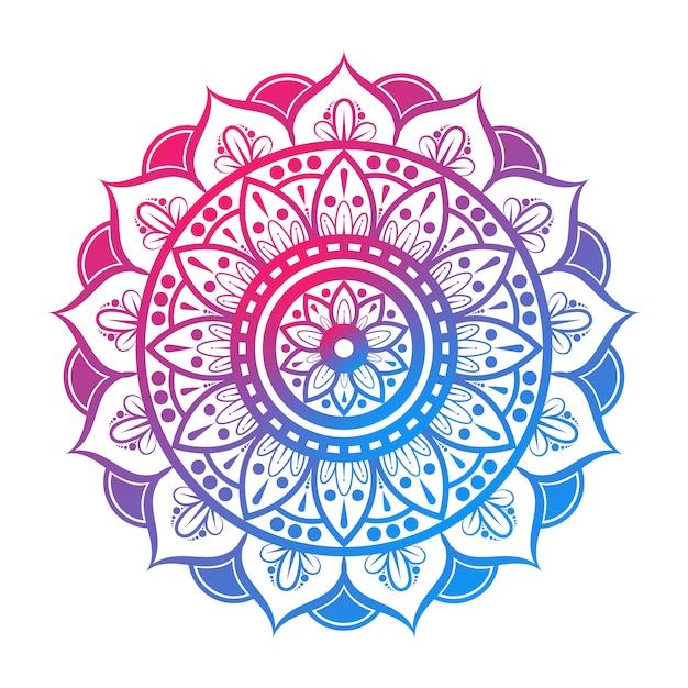 Mandala indiano colorato Vettore Premium