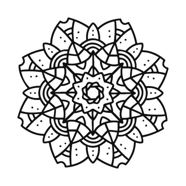 Mandala moderna Vettore gratuito