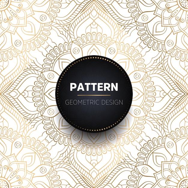 Mandala ornamentale di lusso design sfondo Vettore gratuito