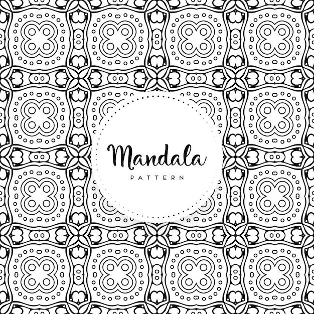 Mandala ornamentale di lusso design sfondo Vettore Premium