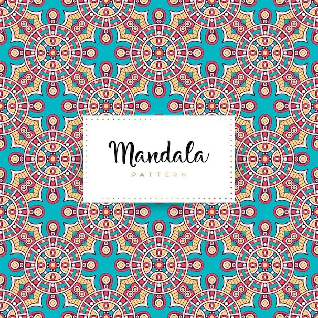 Mandala ornamentale di lusso senza cuciture Vettore Premium
