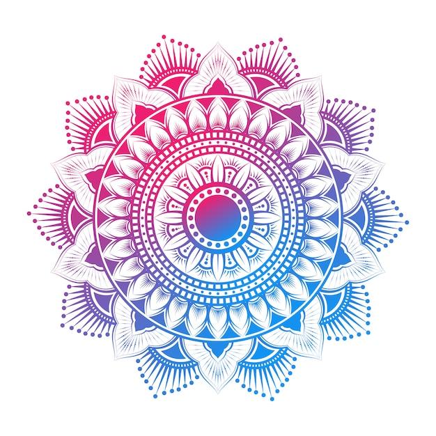 Mandala pattern arabo colorato Vettore Premium