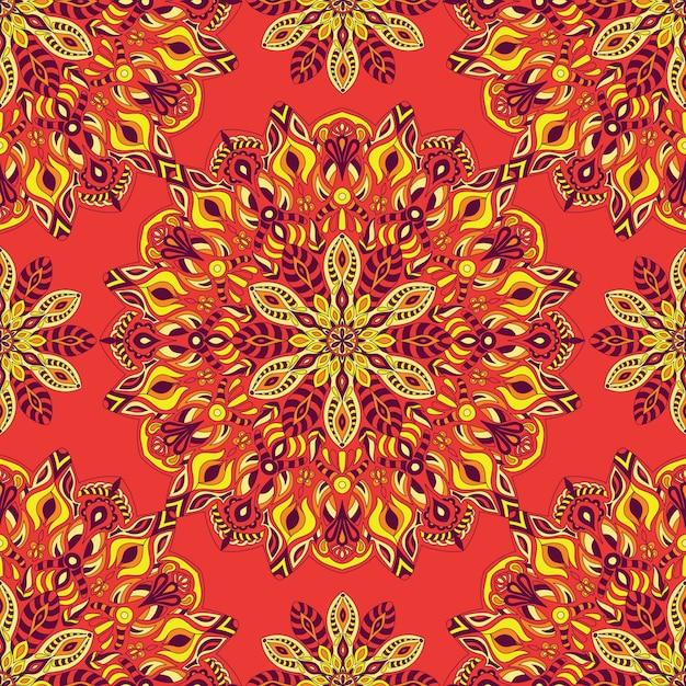 Mandala per la stampa. ornamento tribale. Vettore Premium