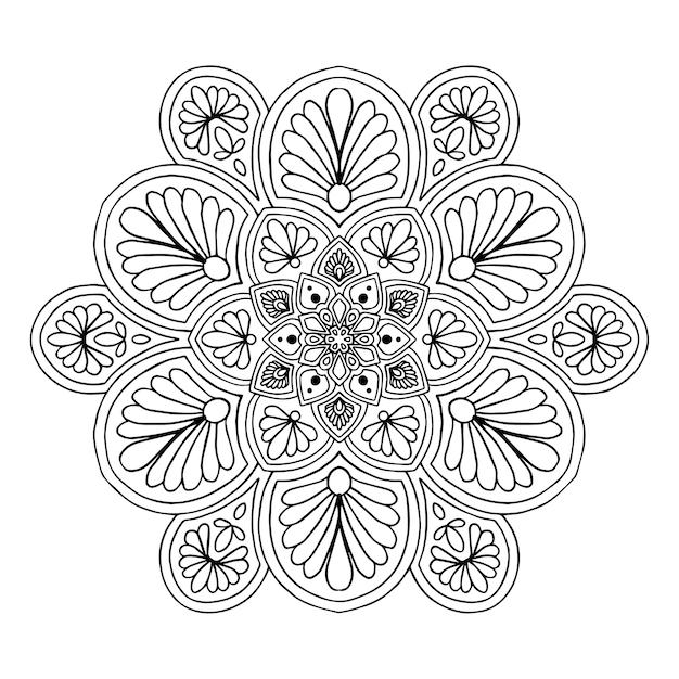 Mandala per libro da colorare. vettore orientale, schemi di terapia antistress. loghi yoga vec Vettore Premium
