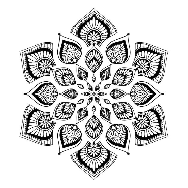 Mandala Per Libro Da Colorare Vettore Orientale Schemi Di Terapia