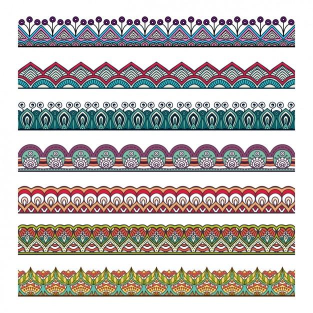 Mandala separatori collezione Vettore gratuito