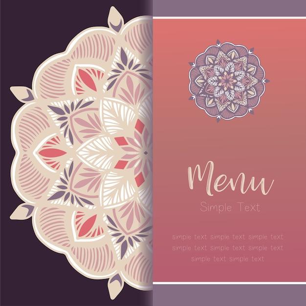 Mandala template card, greeting invitation card set vettoriale. Vettore Premium