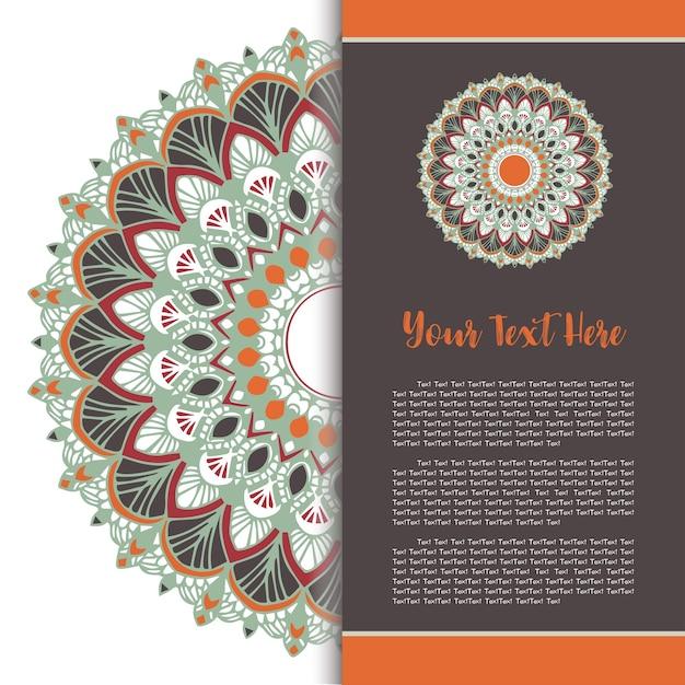 Mandala template card set vector. Vettore Premium