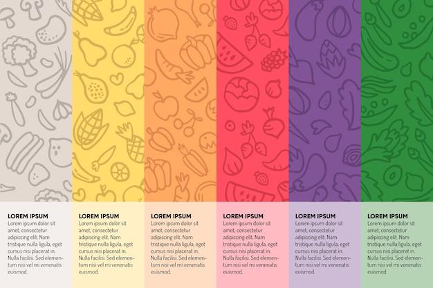 Mangia un'infografica arcobaleno Vettore gratuito