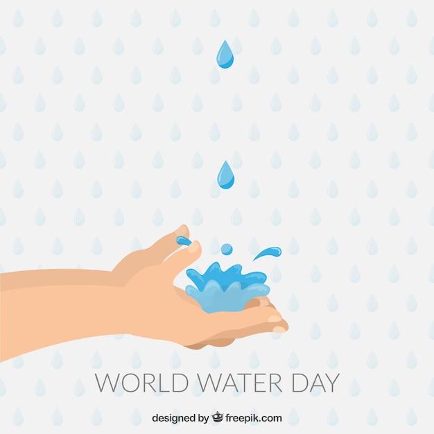 Mani con acqua Vettore gratuito