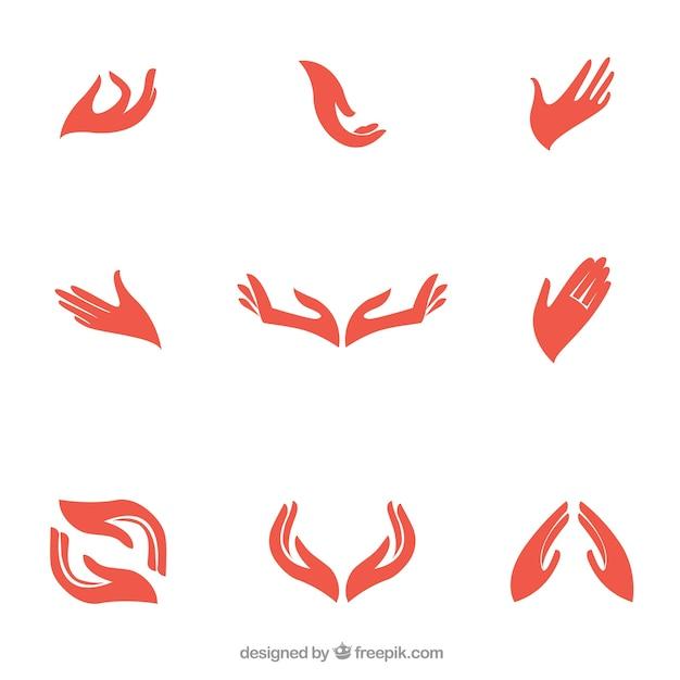 Mani logo Vettore gratuito