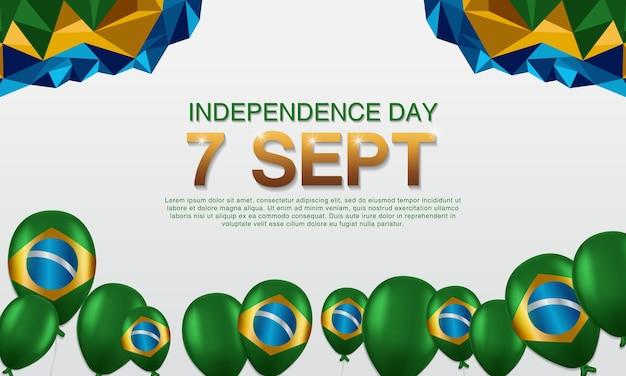 Manifesti brasiliani dell'indipendenza Vettore Premium
