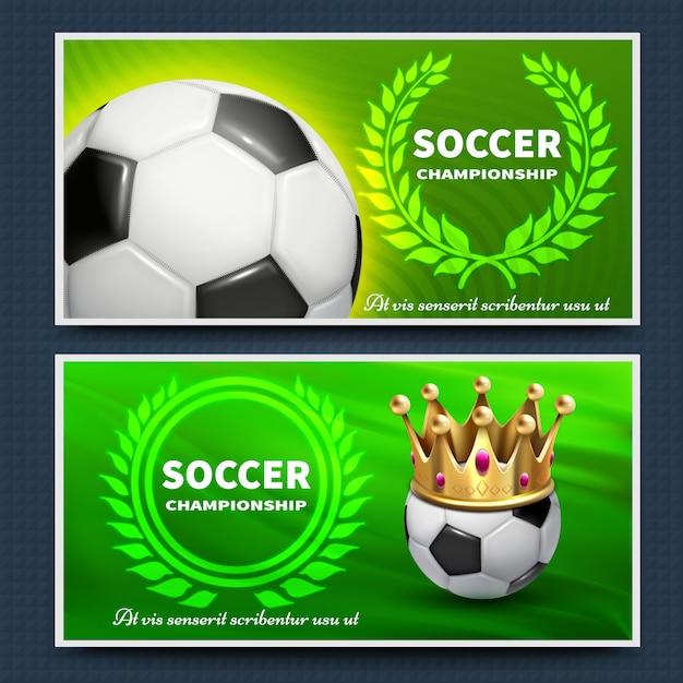 Manifesti di annuncio di vettore della lega di football americano di calcio messi. torneo del manifesto del gioco di calcio, illustrazione dell'insegna di campionato Vettore Premium