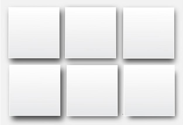 Manifesti di vettore bianco bianco realistico Vettore Premium