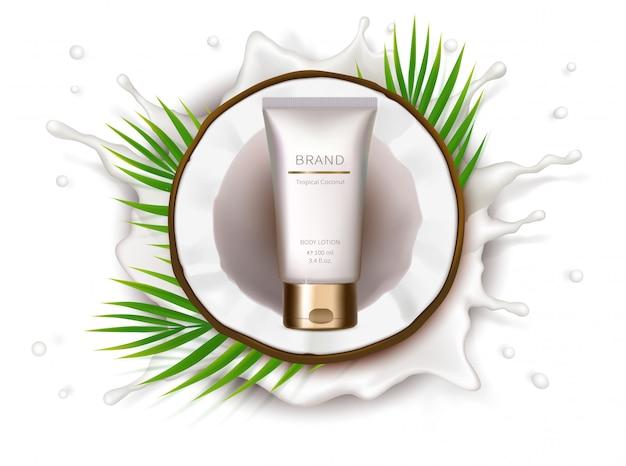 Manifesto concettuale per crema naturale organica Vettore gratuito