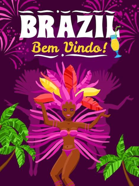 Manifesto del carnevale del brasile Vettore gratuito