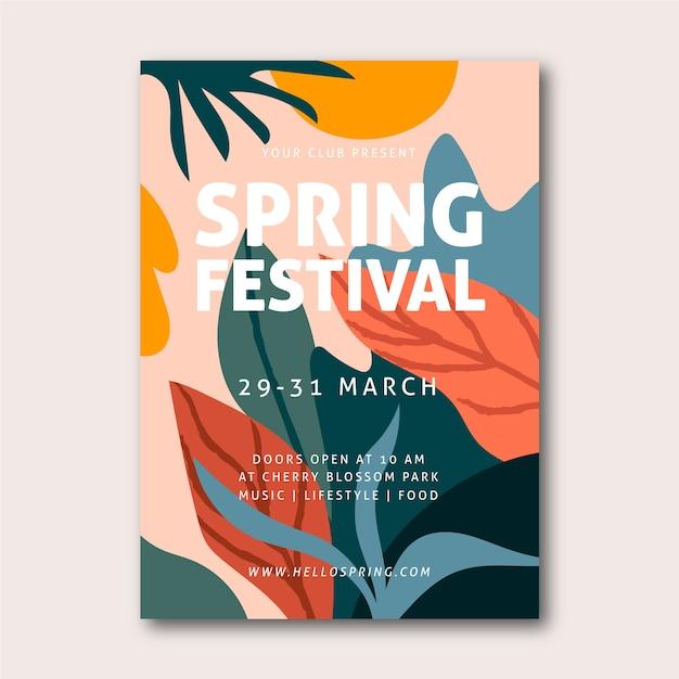 Manifesto del festival di primavera Vettore gratuito