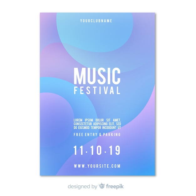 Manifesto del festival musicale Vettore gratuito
