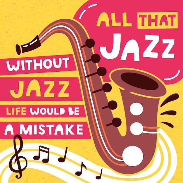 Manifesto di festival di musica jazz e modello di progettazione di banner. Vettore Premium