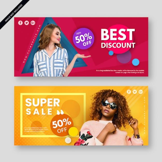 Manifesto moderno moderno dell'insegna di vendita Vettore Premium