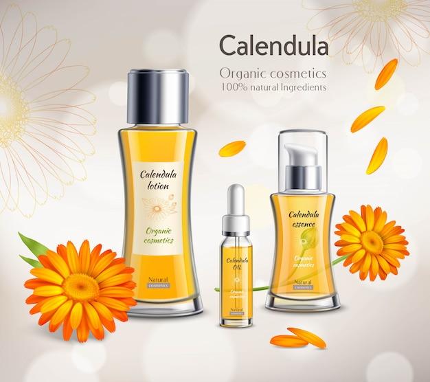 Manifesto pubblicitario realistico dei prodotti dei cosmetici Vettore gratuito