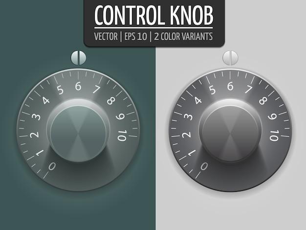 Manopole di controllo del volume, illustrazione vettoriale. elemento ui per il tuo design. eps10 Vettore gratuito