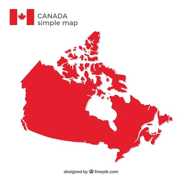 Mappa canadese Vettore gratuito