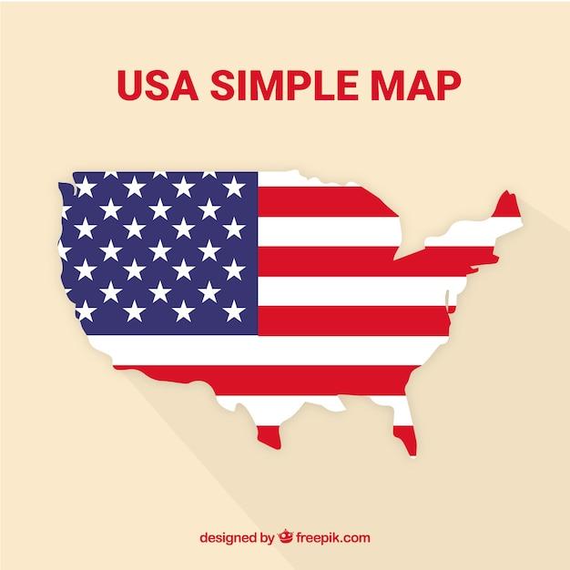 Mappa degli stati uniti Vettore gratuito