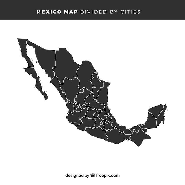 Mappa del messico Vettore gratuito