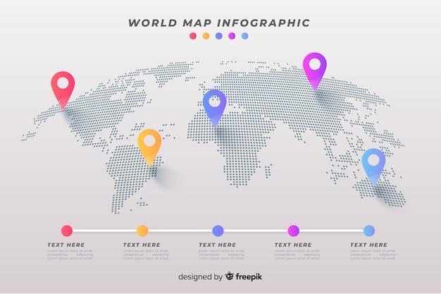 Mappa del mondo aziendale infografica Vettore gratuito
