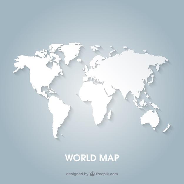 Mappa del mondo Vettore gratuito