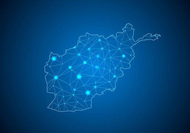 Mappa dell'afghanistan. Vettore Premium