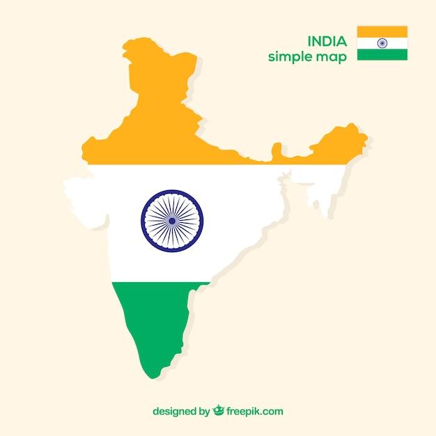 Mappa dell'india Vettore gratuito