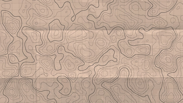 Mappa della linea topografica. Vettore Premium