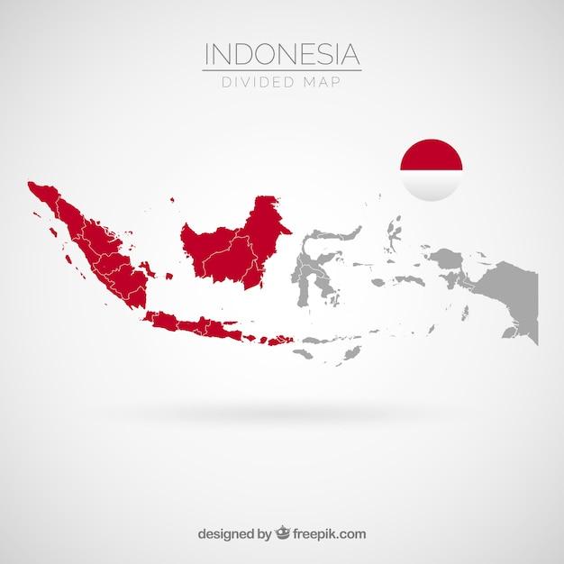 Mappa di indonesia Vettore gratuito
