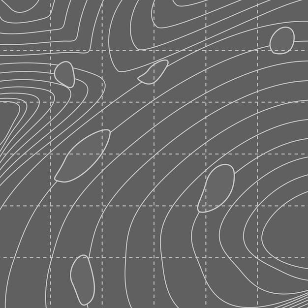 Mappa di linea di contorno astratto bianco e grigio Vettore gratuito