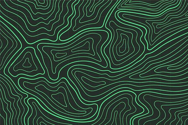 Mappa topografica sullo sfondo Vettore gratuito