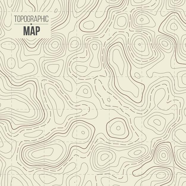 Mappa topografica Vettore Premium