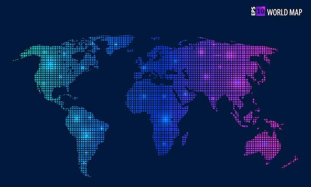 Mappa vettoriale creativo del mondo. Vettore Premium