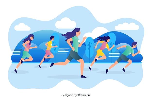 Maratona Vettore gratuito