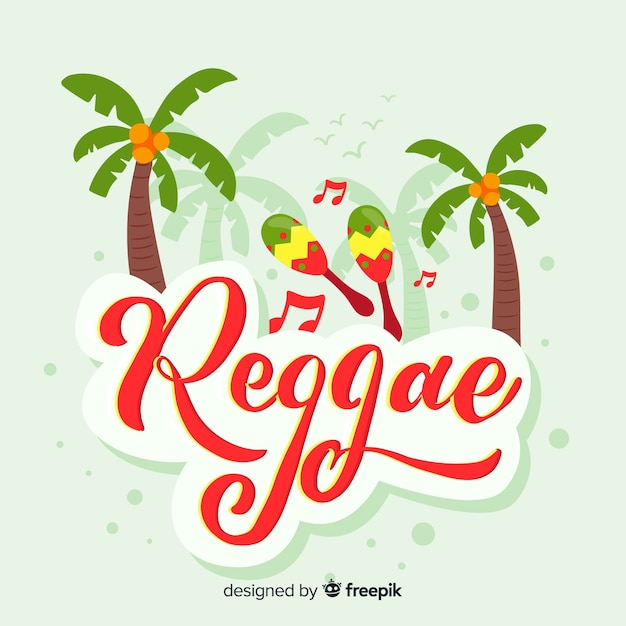 Marga reggae sullo sfondo Vettore gratuito