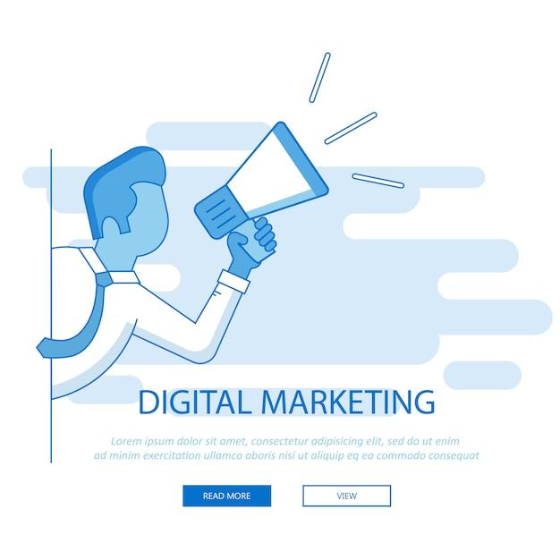 Marketing del sito web Vettore Premium