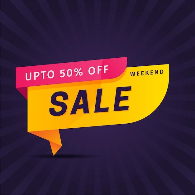 Marketing di promozione banner vendita creativa Vettore Premium